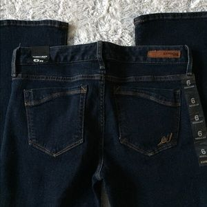 Express Jeans - Express Barely Boot Dark Wash Jeans 6R